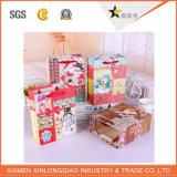 크리스마스 운반대 Shpping Handbagscosmetic 종이에 의하여 인쇄되는 포장 상자 부대