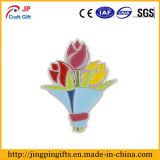 Настроить букет из разноцветных тюльпанов эмаль Булавка