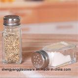 De afgedrukte Fles van de Specerij/het Zoute Glas van de Kruik van het Kruid/van de Kruik van het Kruid