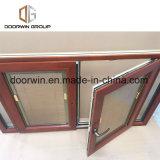 Thermal Break Janela de alumínio com revestimento de madeira de carvalho Interior