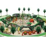 子供公園のためのロープの上昇シリーズの屋外の運動場システム