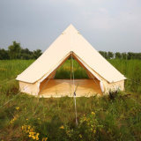 À prova de lona de algodão tenda 3m 4m 5m Bell tendas com uma etiqueta cosida no Groundsheet