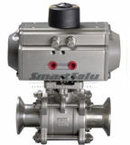 Steel inoxidable Pneumatic Ball Valve avec Pneumatic Actuator
