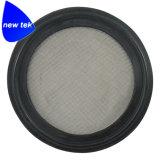 Le joint Viton Tri-Clamp sanitaire de l'écran, noir (en acier inoxydable 316L)