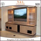 Économique et de bois de verre élégant meuble TV