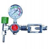 Regolatore di pressione medico dell'ossigeno con l'umidificatore dell'ossigeno