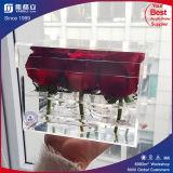 Высокая прозрачная акриловая коробка цветков/оптовая ясная акриловая коробка цветков