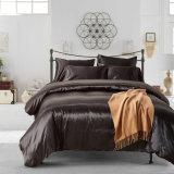 El Hotel Quality Color sólido conjunto de edredón de seda satén ropa de cama