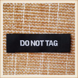 Escritura de la etiqueta tejida marca de fábrica modificada para requisitos particulares para la ropa de Jean