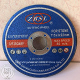 Disco abrasivo di taglio per la pietra -115X3X22.2