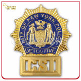 Insigne militaire plaqué or en forme d'étoile personnalisé avec piquet de sécurité