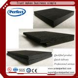 Panneau décoratif acoustique de fibre minérale noire
