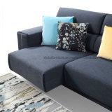 北欧デザインホームのための青い角の家具ファブリックソファー