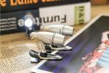 弾丸のDesin適用範囲が広い小型クリップ式クリップLED本ライト、Worklightの読書ランプの懐中電燈、方法ボタン電池の懐中電燈