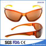 Óculos de sol cheios dos esportes ao ar livre do frame de Brown do estilo ocasional para homens