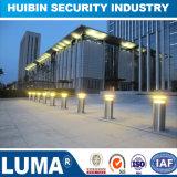 Barrera de tráfico de aumento automático de balizas de acero inoxidable con luz solar