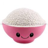 Kawaii crème bol à riz parfumé à la hausse lente Squishy Squeeze Toy
