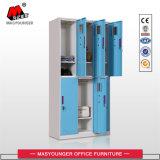 Kast Van het Bedrijfs ziekenhuis van de Opslag van de Garderobe van de Deur van de Kast van het staal de Compacte 6 Volledige Functionele Veilige van het Metaal