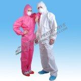 Vêtements de travail respirables non-tissés avec le capot et la couverture de gaine
