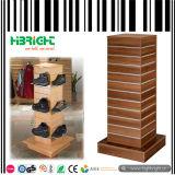 黒い木製の衣類の正方形の表示表3つの層の