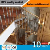 屋内ステアケースのための現代ステンレス鋼およびガラスの手すり