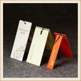 100 % Fabricant Hang Tags avec l'or hot stamping/Fleur de gaufrage