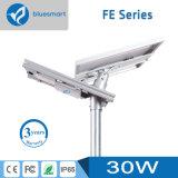 alto indicatore luminoso di via solare di tasso di conversione 30W LED con la batteria di litio