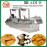 Transporte de correia automático que frita a frigideira dos biscoitos da batata da máquina