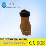 Pattini di sicurezza classici di Nubuk dell'alto taglio con la punta d'acciaio