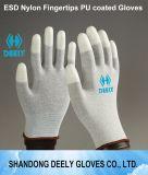 PU перчаток ESD белый на верхних перстах