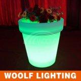 Pots de fleur légers lumineux par décoration du jardin LED