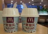 Taza de papel del helado de la ráfaga con el PE doble