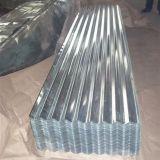Folha de aço galvanizada corrugada Z80 da telhadura do metal de folha lisa do soldado