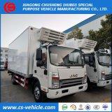 JAC 6は5トンの4トンをフリーザー冷却装置トラックのトラックによって冷やされているBoxヴァンTruck動かす