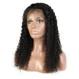 150% 조밀도 여자를 위한 꼬부라진 레이스 정면 사람의 모발 가발