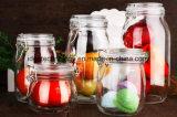 記憶の瓶の蜂蜜タンク花の茶ガラスの瓶