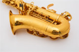 Instrument de musique de gros /saxophone soprano courbé/ Laque d'or