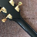 Guitarra elétrica do Lp do costume com o Fingerboard do ébano no preto (GLP-531)