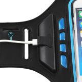 Bolsa de braçadeira desportiva para celular, caso de braço reflexivo de esporte ao ar livre