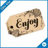 A alta qualidade recicl o Tag do cair do papel de embalagem de Brown Para calças de brim