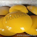 Vite prigioniera di ceramica riflettente gialla bianca della strada dell'occhio di gatto