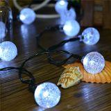 La Navidad ligera de la cadena Wedding la luz de hadas accionada solar de la cadena del LED