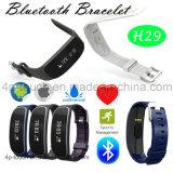 Bracelet intelligent d'IP65 Bluetooth 4.0 avec le moniteur du rythme cardiaque (H29)