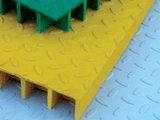 Prfv antiderrapagem gradeamento moldado com tampas padrão