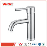 Pont bassin monté sur le robinet Chrome robinets de lavage en laiton à levier unique