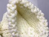 Акрил зимние теплые трикотажные из жаккардовой ткани ручной работы спицы Beanie ручной работы