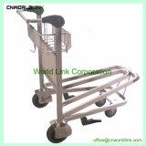 ステンレス鋼空港手荷物のトロリーカートの乗客手のカート