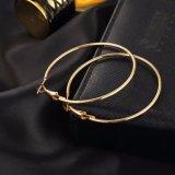 orecchini del cerchio di colore dell'oro di 6PCS Steampunk grandi