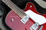 Guitare électrique de musique de Hanhai/jazz Claret-Rouge Semi-Creux avec Hardcase