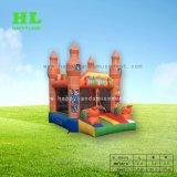 美しい象の子供のための膨脹可能な跳躍の警備員の弾力がある城